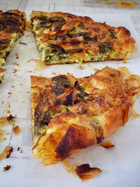 Tart od kora za pitu sa sirom i zeljem