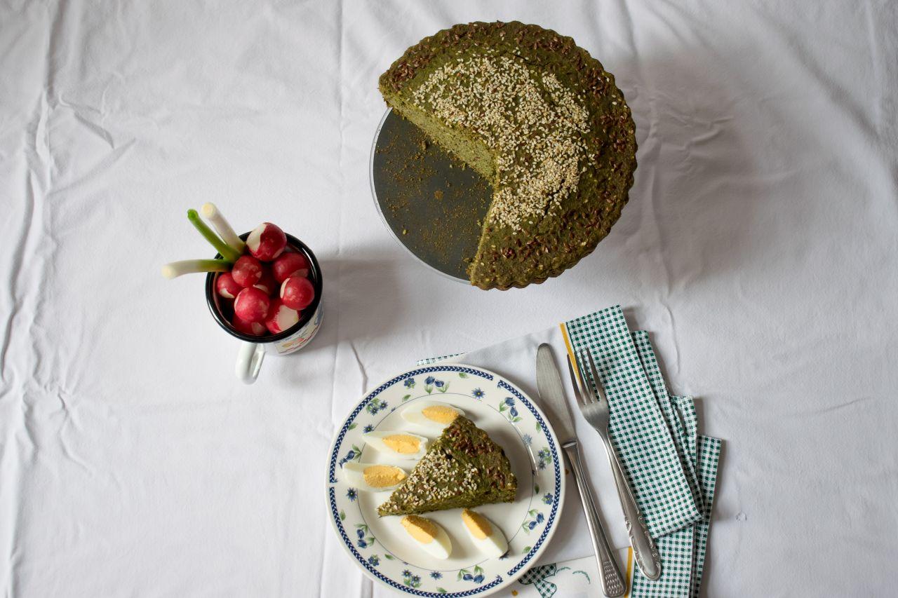 Slani kolač od heljdinog brašna