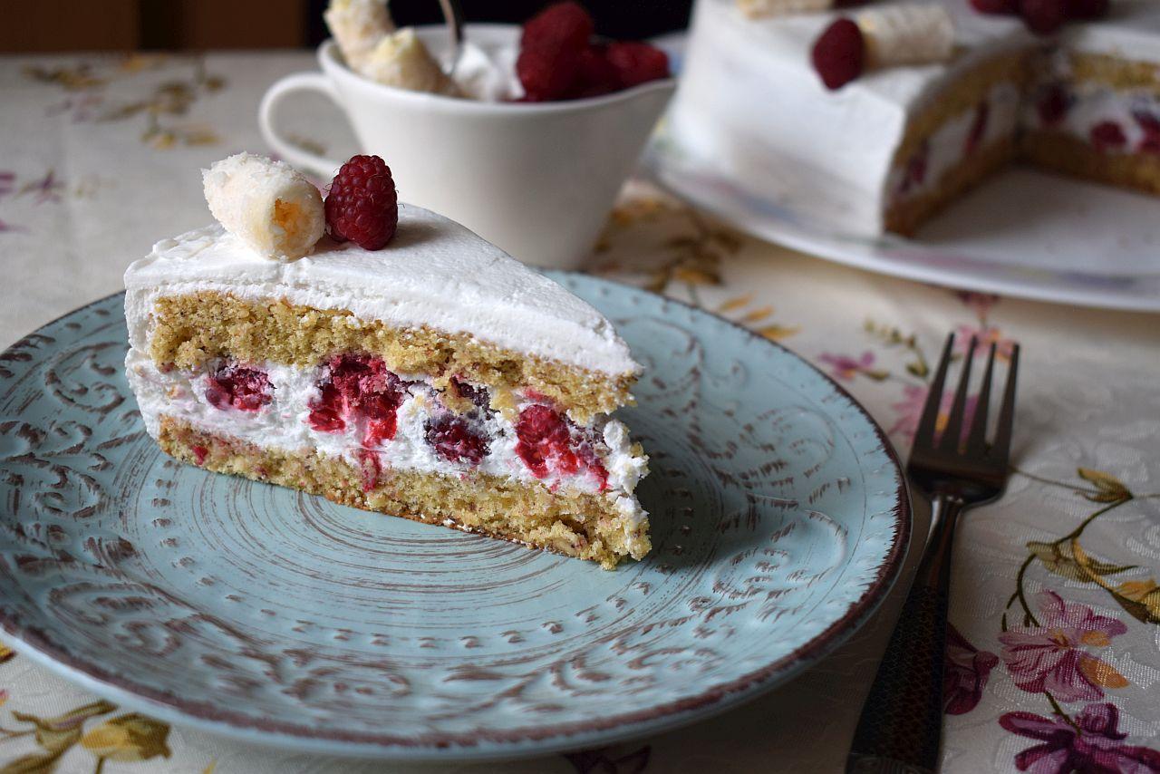 Torta sa malinama parce