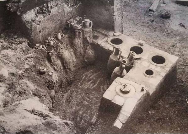 Termopolijum Aseline tokom iskopavanja, 1912.