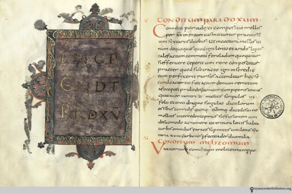 De re coquinaria, vatikanski manuskript, replika iz 2013.