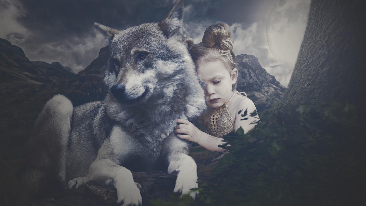 vuk i devojcica
